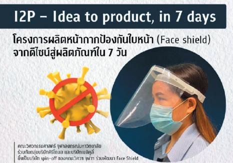 โครงการผลิตหน้ากากป้องกันใบหน้า (Face Shield)